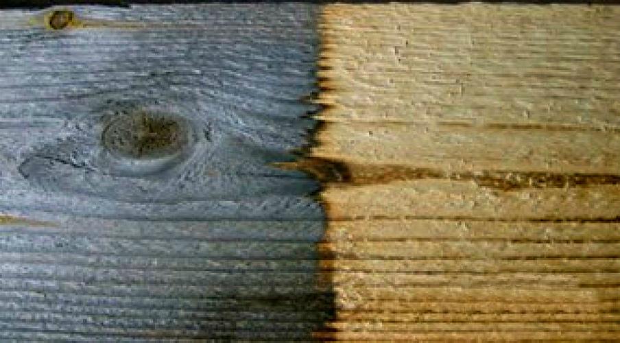 Чем отбелить древесину в домашних условиях