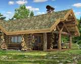 Рубленные дома из бревна большого диаметра цены