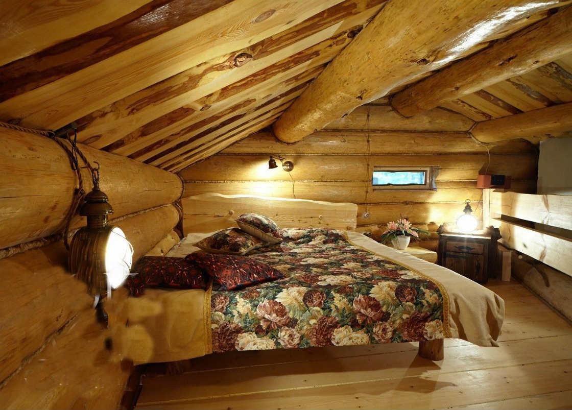 Интерьер спальни дача