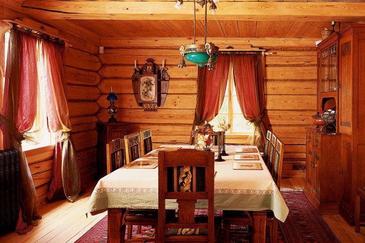 Интерьер старых деревянных домов