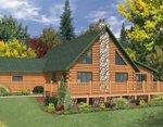 Проект рубленного дома из бревна-Канадский стиль