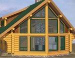 Проект рубленного дома из бревна-Традиционный дом