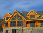 Проект рубленного дома из бревна-терем