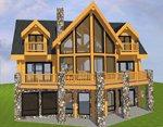 Проект рубленного дома из бревна-сделанный в Канаде