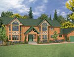 Проект рубленного дома из бревна-Усадьба