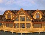 Проект рубленного дома из бревна-в канадских традициях