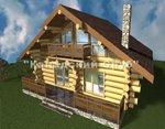 Проект рубленного дома из бревна-Альпийский дом