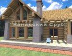 Проект рубленного дома из бревна-Карибы