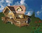Проект рубленного дома из бревна-Канадский сруб