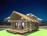 Проект рубленного дома из бревна-Американское шале