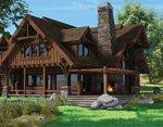 Проект рубленного дома из бревна-Дикий Запад