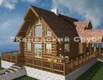 Проект рубленного дома из бревна-Лесной терем