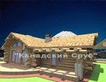 Проект рубленного дома из бревна-Горная избушка