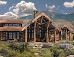 Проект рубленного дома из бревна-красивый охотничий домик