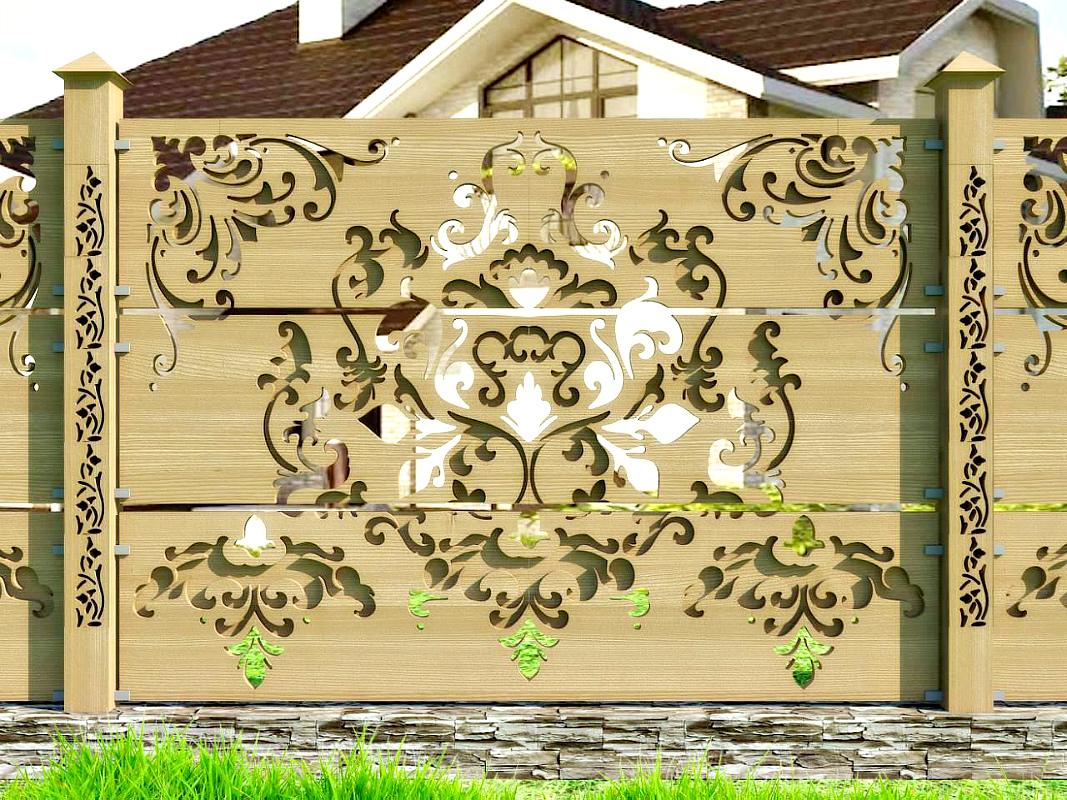 Фото узоров для деревянного забора