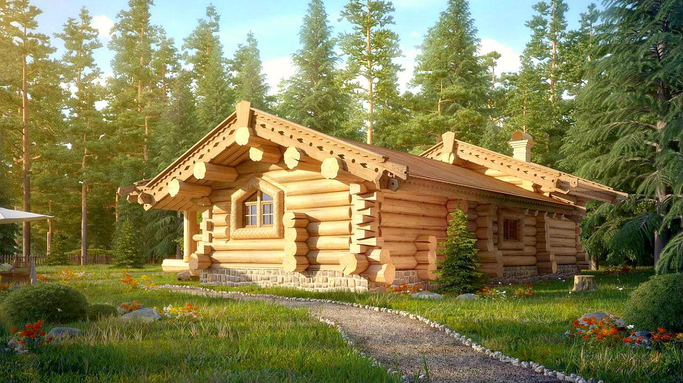 Проект дома в русском стиле №33