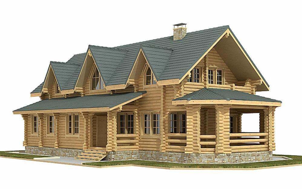 Проект дома из бревна-дом 225