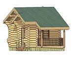 Проект рубленного дома из бревна-Радость