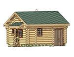 Проект рубленного дома из бревна-Любомысл