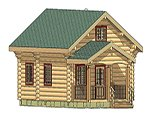 Проект рубленного дома из бревна-Тихомир