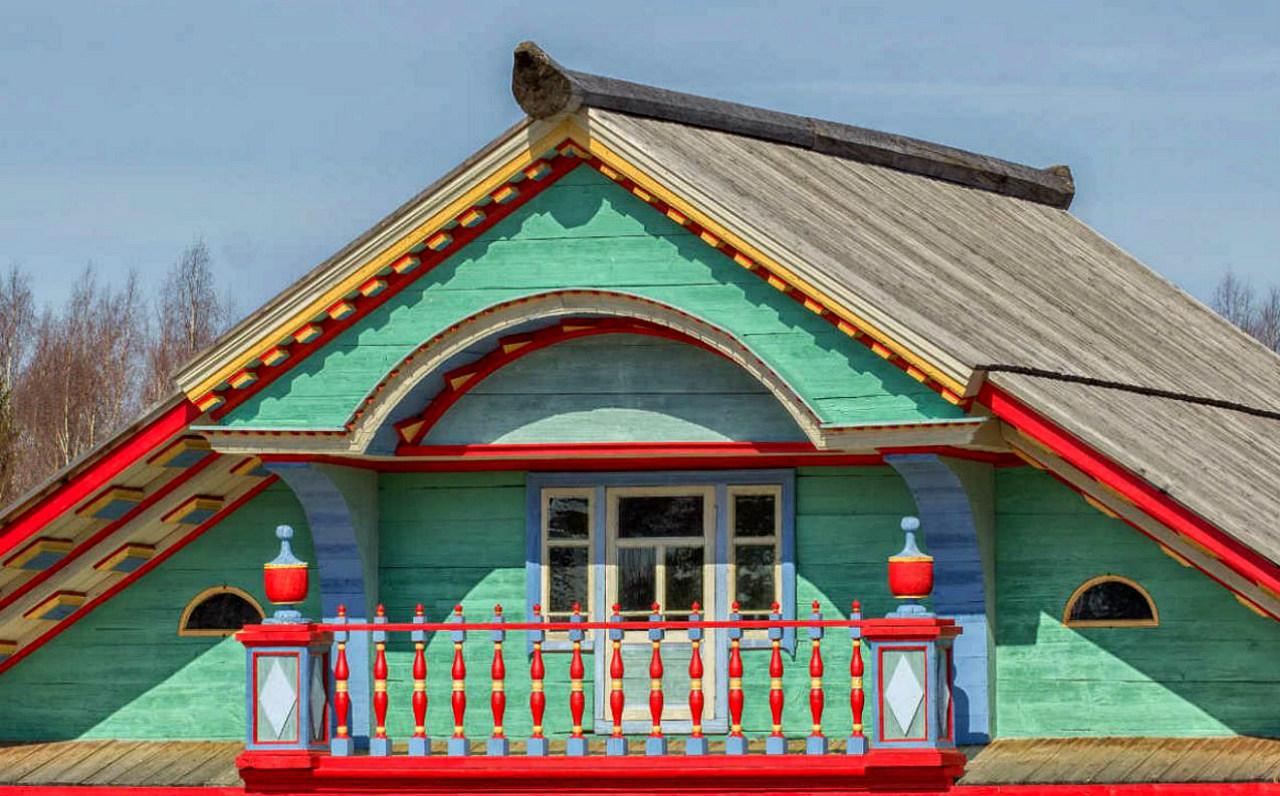 Двухскатная крыша-фасад №3