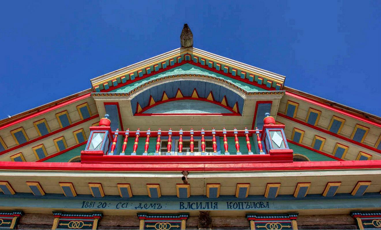 Двухскатная крыша-фасад №4