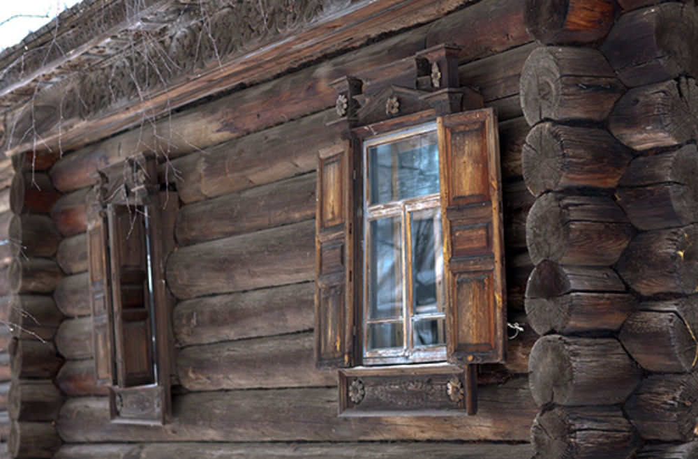 Фото снег домик зависит