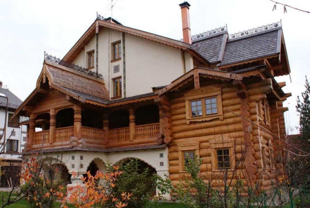 фото русских домов из дерева муж такой красавица