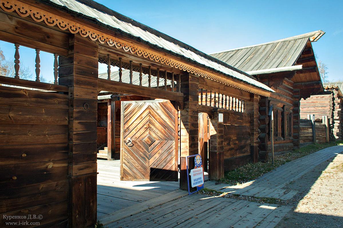 Ворота и заборы в русском стиле-ворота №26