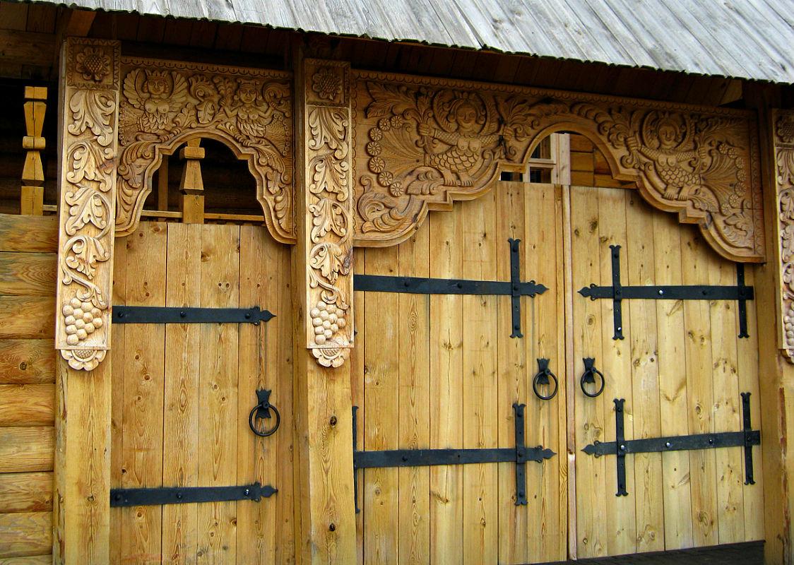 Ворота и заборы в русском стиле-ворота №2