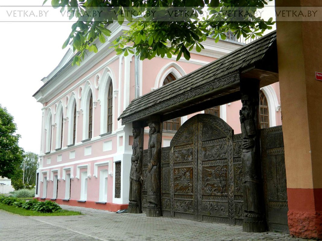 Ворота и заборы в русском стиле-ворота №30