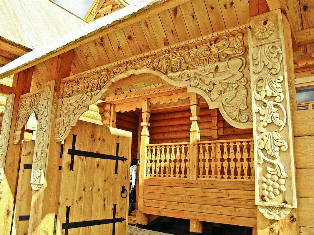 Ворота и заборы в русском стиле-ворота №3