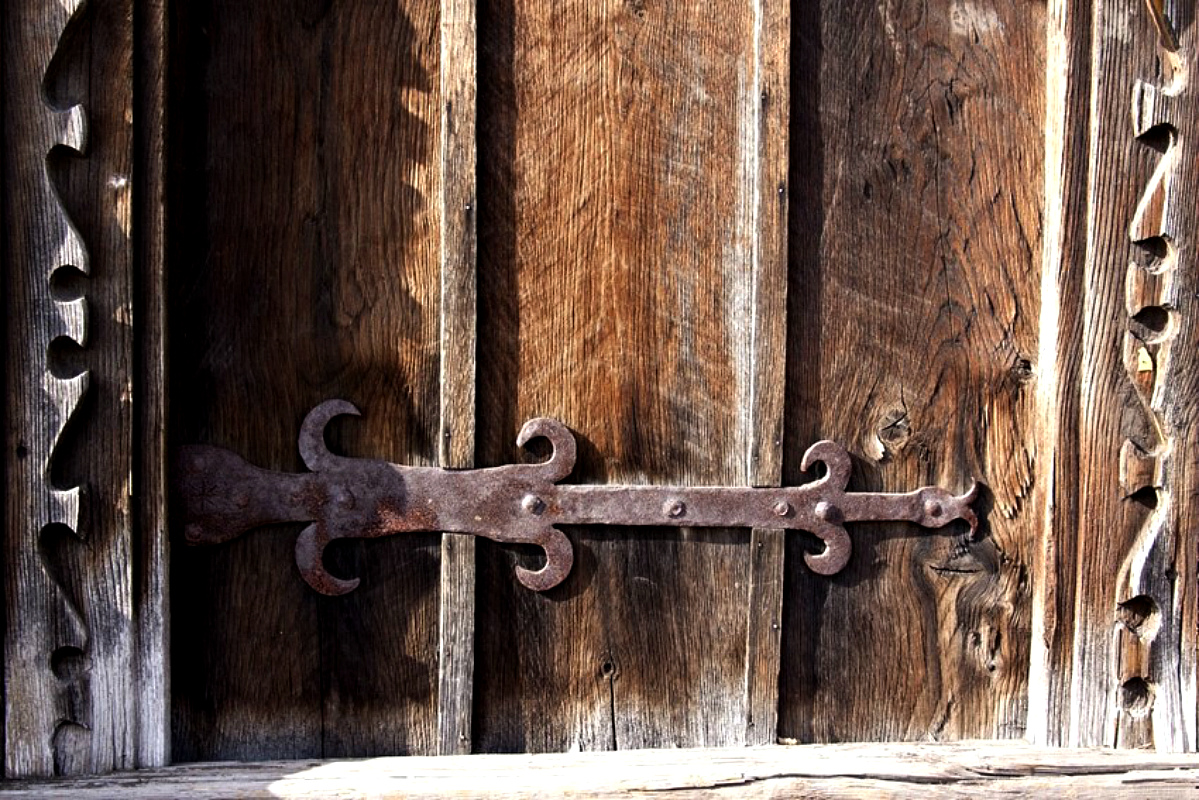 Ворота и заборы в русском стиле-ворота №43